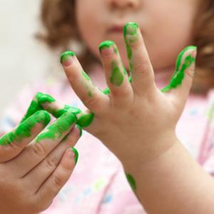 Malen mit Fingerdrucktechnik