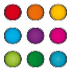 neun bunte Kreise