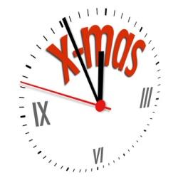 Uhr, symbolisch für ''kurz vor Weihnachten''