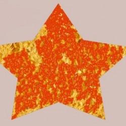 Sternförmiger Schwamm mit roter Farbe