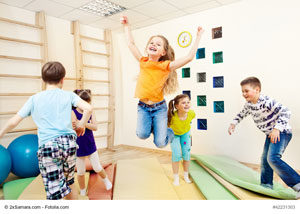 Kita-Kinder beim Sport