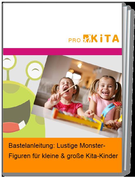 Lustige Monster-Figuren in der Kita basteln