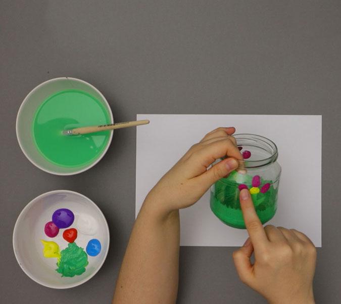 Bastelanleitung Farbenfrohe Windlichter Mit Kindern Basteln