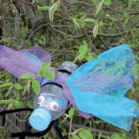 Basteln Mit Mull Aus Plastikflaschen Libellen Basteln