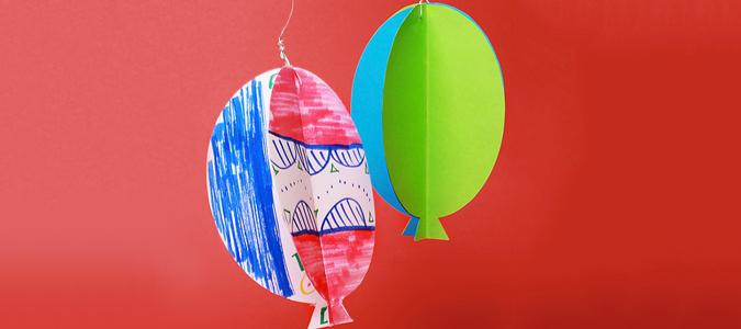 Bastelanleitung Fur Kinder Ballon Windspiel Basteln