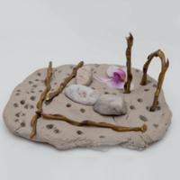 Kita Kinder Eine Kreative Gartencollage Basteln Aus Ton